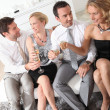 Friends drinking champagne — Stock Photo