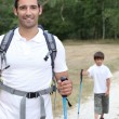 Father and son hiking — Stock Photo #8068693