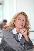Thoughtful businesswoman — Stock Photo