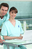 Young interns in medicine — Stock Photo