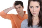 Couple having a quarrel — Stock Photo
