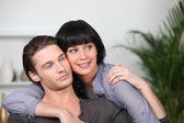 Young couple embracing — Stock Photo
