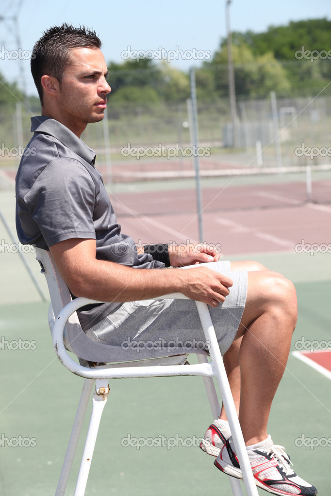 Tennis umpire  Stock Photo #8065438