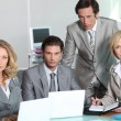 Serious team of executives — Stock Photo
