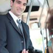 Stock Photo: Ticket inspector