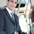 Foto de Stock  : Ticket inspector