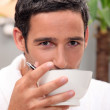 Man having cup of coffee at home — Stockfoto #8072005