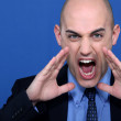 Bald businessmshouting — Stock Photo #8072069