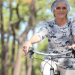 Stock Photo: Elderly dame riding