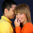 Young couple giggling together — Stock Photo #8078466