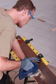 Woodworker working — Stock Photo
