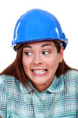 A wrongful female construction worker. — Stock Photo