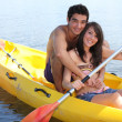 Foto Stock: Couple in kayak