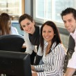 Stock Photo: Happy office team