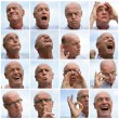 Collage of a man making faces — Stock Photo