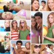 Teens in the beach — Stock Photo