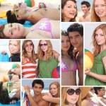 Teens in the beach — Stock Photo