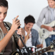 Young rock band — Stock Photo