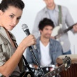 Young trendy rock band — Stock Photo #8101584