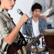 Stock Photo: Band jamming together