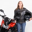 Stock Photo: Female biker