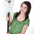 Stock Photo: Girl holding guitar
