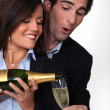 Royalty-Free Stock Photo: Happy couple drinking champagne