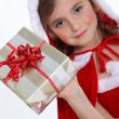Little girl celebrating Christmas — Stock Photo #8101748