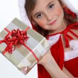 Little girl celebrating Christmas — Stock Photo