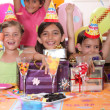 Children at a birthday party — Stock Photo #8101770