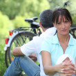 Royalty-Free Stock Photo: Couple on bike ride