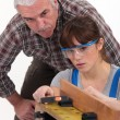 Royalty-Free Stock Photo: Trainee carpenter