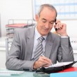 Businessman planning an appointment — Stock Photo