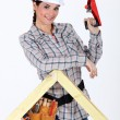 Womusing wood plane — Stock Photo #8106010