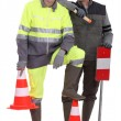 A team of traffic guards - Stock Photo