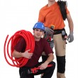 Plumber and electrician — Stock Photo