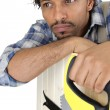 Stock Photo: Pensive carpenter