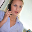 Secretary talking on the phone — Stock Photo #8108160