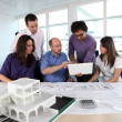 Stock Photo: Group of working in an architect\'s office