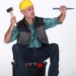 Craftsman nailing — Stock Photo #8109426