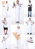 Małych przedsiębiorców i pracowników restauracji — Zdjęcie stockowe