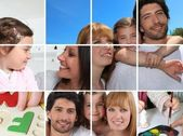 Images of family life — Stock Photo