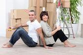 Mudança de casa casal — Foto Stock