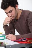 Male university student — Stock Photo