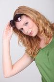 Retrato de muchacha jengibre bonito — Foto de Stock