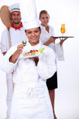 Staff of catering sector — Stock Photo