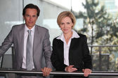 Pair of confident executives — Stock Photo