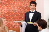 Waiter on service — Stock Photo