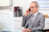 Business consultant on phone — Stock Photo