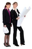 Two female architects — Stock Photo